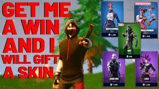 Fortnite Random Duos if you win i gift a skin! *RETAIL ROW is BACK* (Fortnite Battle Royale)
