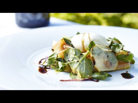 Adam Mead's Pear Salad with Goats Cheese Mousse