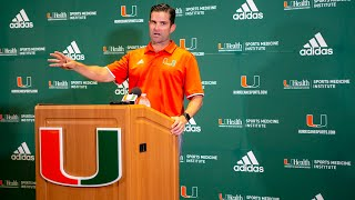 University of Miami head coach Manny Diaz on Zion Nelson: Mature beyond his years