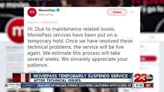 MoviePass suspends services due to