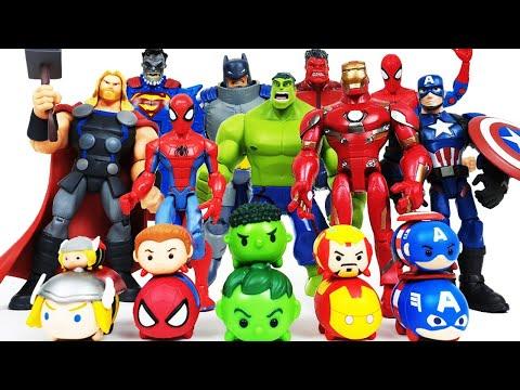 Avengers, Hulk, Iron Man Assemble! Thor, Spider-Man, Captain America, Batman, Superman