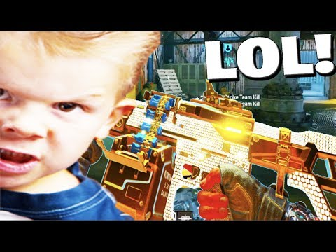 LITTLE KID gets ANGRY on BLACK OPS 4.. - default
