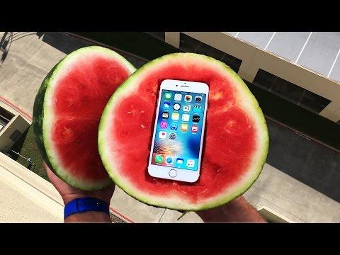 Bir Karpuzun İçinde 30 Metre Yüksekten Atılan İphone S6'ya Ne Olur?