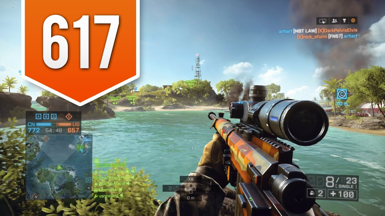 BATTLEFIELD 4 (PS4) - Road to Max Rank - Live Multiplayer Gameplay #617 -  THE PERFECT SHOT! | AudioMania.lt