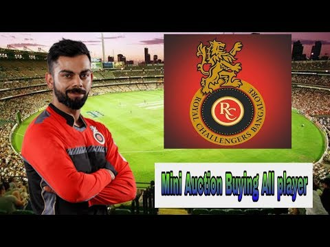 Ipl 2019 RCB Team BUYING player must be watch the video | #indiacrickettv