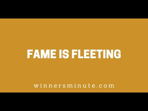 Fame Is Fleeting // The Winner's Minute With Mac Hammond