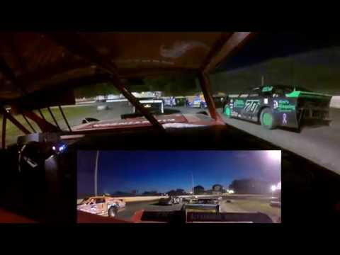 Heat race started 3rd... finished 1st Feature started 7th... finished DNF (did not finish) Flat tire - dirt track racing video image