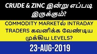MCX Commodity Market |23-08-2019| Aliceblue | Tamil | Zerodha | Crudeoil | Technical | CTA
