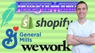 $SHOP Shopify GIS General Mills WeWork 2019 Stock Market News/Analysis