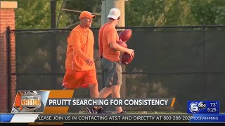 Tennessee coach Jeremy Pruitt looking for consistency