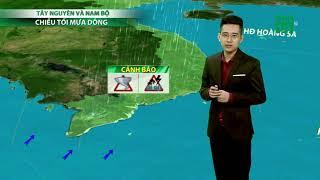 Thời tiết 6h 20/08/2019: Nam Bộ mưa dông kèm sét và gió giật mạnh vào chiều tối | VTC14