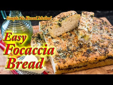 Focaccia bread made easy at home