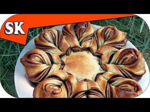 NUTELLA BRAIDED TEAR AND SHARE BREAD ♥ BlumenBrot