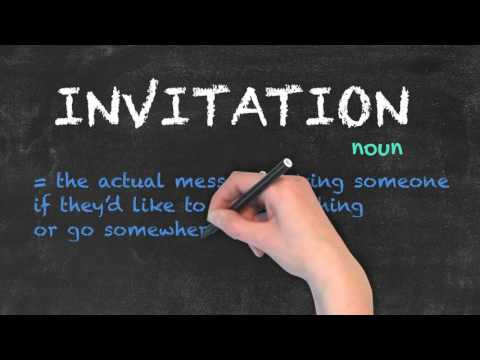 Invite vs Invitation - English Grammar - Teaching Tips