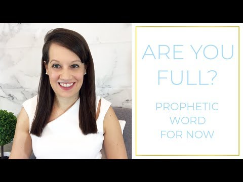 Word of the Lord: Are you Full?
