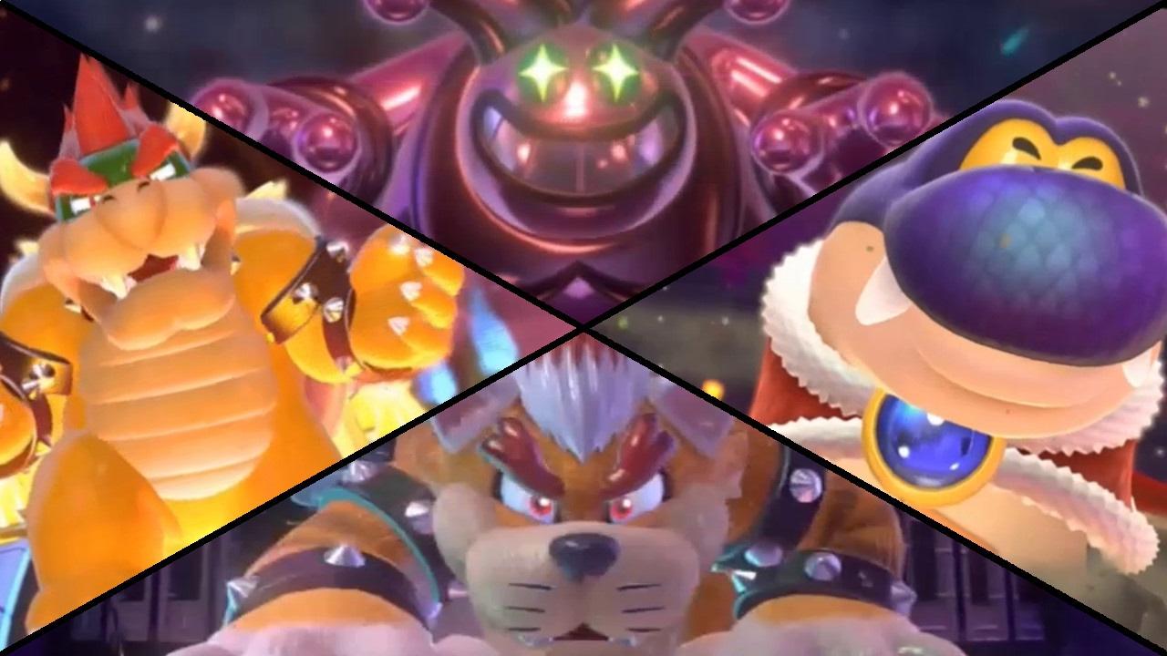 Super Mario 3D World - All Boss Battles (2 Player