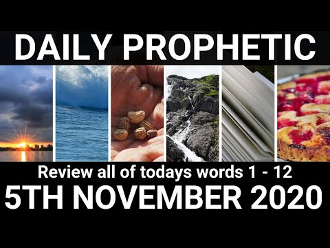 Daily Prophetic 5 November 2020 All Words Subscribe for Daily Prophetic Words