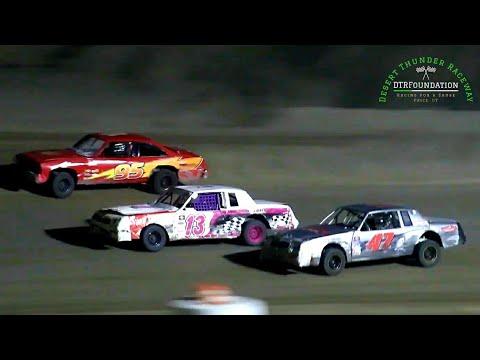 Desert Thunder Raceway IMCA Hobby Stock Main Event 8/7/21 - dirt track racing video image