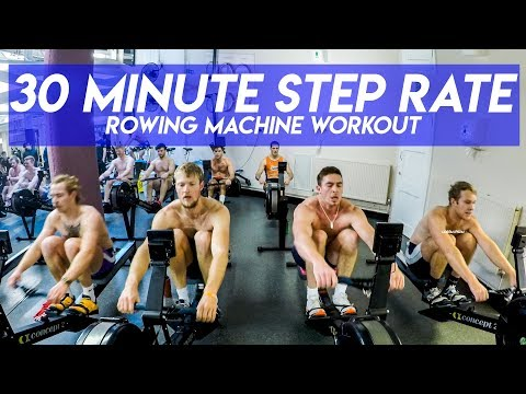 30 MINUTE STEP RATE ROWING MACHINE WORKOUT WITH LEANDER CLUB MEN