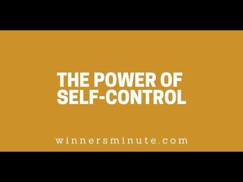 The Power of Self-Control // The Winner's Minute With Mac Hammond