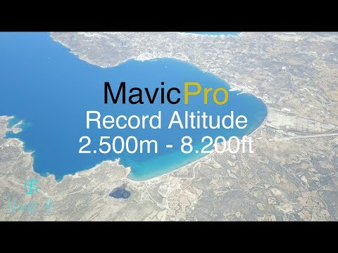 DJI Mavic Pro Record Altitude 2.500m - 8.200ft - How to check wind speed - UCyxzvYDWT_WYV_TUtDy0FJw
