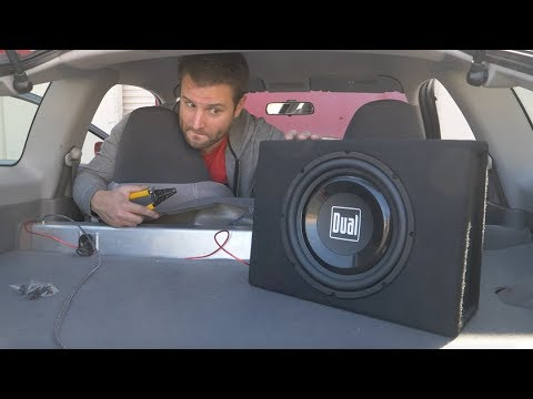 How bad is the $70 subwoofer from Walmart? Install | Review - UChg9P8du8Ykqy6MbMK5jpzQ