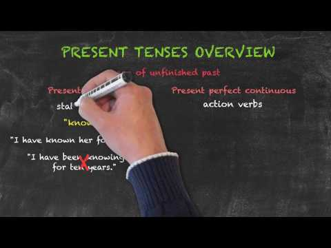 Overview of All English Tenses - Present Tenses Overview - Present Perfect Continuous