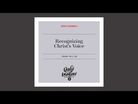 Recognizing Christs Voice  Daily Devotional