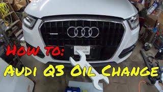 Cambio olio motore Audi Q3 8U