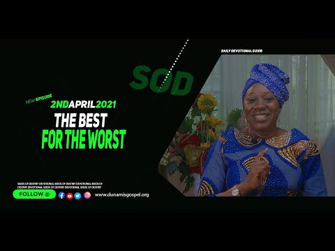 Dr Becky Paul-Enenche - SEEDS OF DESTINY  FRIDAY APRIL 02, 2021