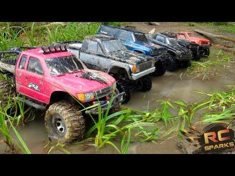RC ADVENTURES -  6 Scale RC 4x4 Trucks in MUD, DIRT & a Forest! Group Trail Gathering  (GTG) - UCxcjVHL-2o3D6Q9esu05a1Q