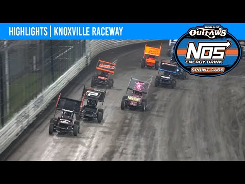 World of Outlaws NOS Energy Drink Sprint Cars Knoxville Raceway, August 11, 2021 | HIGHLIGHTS - dirt track racing video image