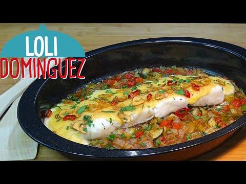 Bacalao con verduras al horno napado con muselina, receta fácil y rapida. Tutorial. Loli Domínguez - UC5ONfXPjWgqElh0NZaRJ1tg