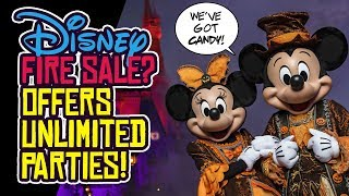 Disney Parks PANIC Over Attendance?! Offers UNLIMITED Halloween Parties!