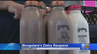 Customers Flock To Reopened Broguiere's Dairy To Stock Up