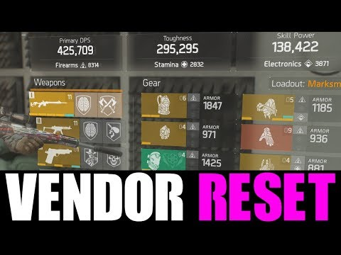 THE DIVISION - OKAY VENDOR RESET | GOD ROLL WEAPONS, GEAR & GEAR MODS! (YOU NEED TO BUY) - default