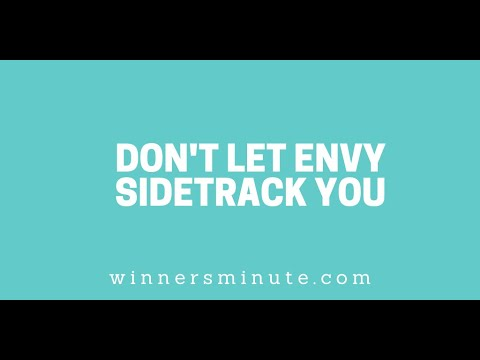 Dont Let Envy Sidetrack You // The Winner's Minute With Mac Hammond