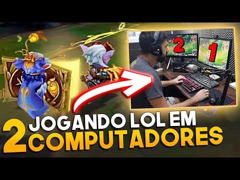 JOGANDO COM 2 CAMPEÕES AO MESMO TEMPO! *SOZINHO NA BOT LANE*- League of Legends