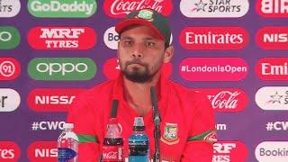 Mashrafe Mortaza Reacts on Bangladesh loss against Pakistan & Poor show at World Cup 2019  #PAKvsBAN