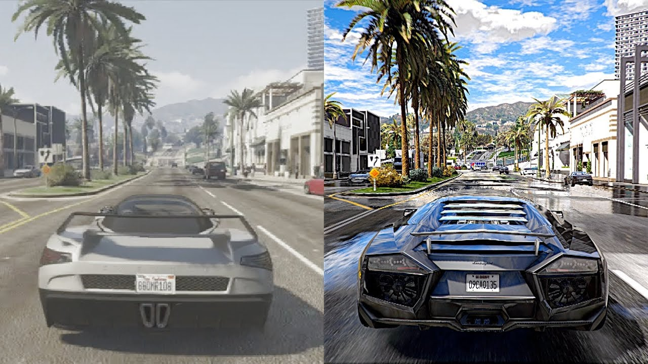 GTA 5 Xbox 360 vs Ultra Realistic 4K 60FPS PC Graphics ...