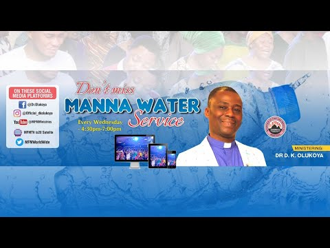 MFM SPECIAL MANNA WATER SERVICE WEDNESDAY AUGUST 19TH 2020