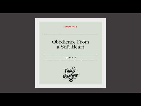 Obedience From a Soft Heart  Daily Devotional