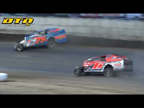 Ransomville Speedway | DIRTcar 358-Modified Feature Highlights | 7/16/21 - dirt track racing video image