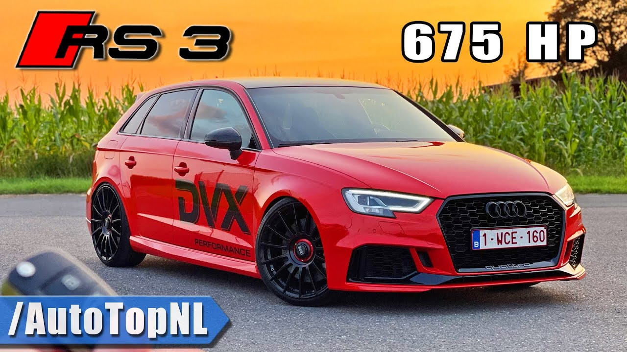 675HP AUDI RS3 DVX | REVIEW on AUTOBAHN [NO SPEED LIMIT] by AutoTopNL