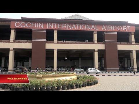 Sân bay năng lượng mặt trời ở Ấn Độ (VOA)