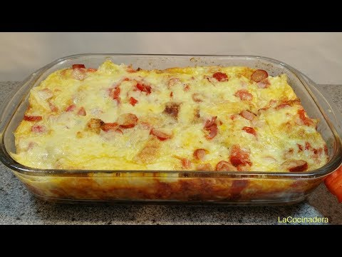 Receta: Delicioso Pastel De Desayuno (de Aprovechamiento) (breakfast casserole) - LaCocinadera
