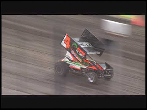 Danny Lasoski wins his final race at the Sprint Car Capital of the World. It was win number 112 in the 410 class. - dirt track racing video image