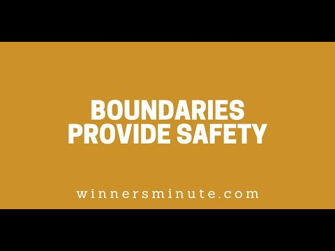 Boundaries Provide Safety // The Winner's Minute With Mac Hammond