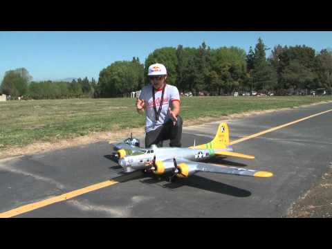 "B-17 Bomber Flying Fortress ""Fuddy Duddy"" ""Bit O Lace"" RC Flight Review with Pete in HD! - UCUrw_KqIT1ZYAeRXFQLDDyQ"