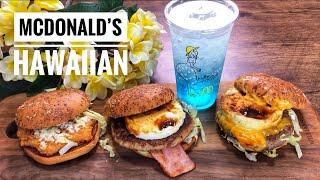 Trying the New McDonald's Hawaiian Hamburger LIVESTREAM